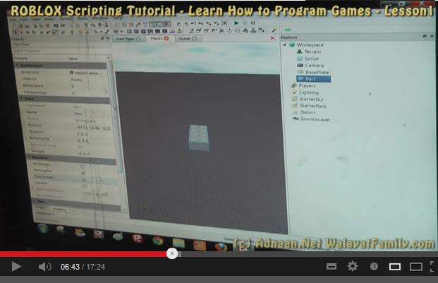 Roblox Scripting Games Programming Tutorial - Lesson 1